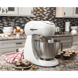 Hamilton Beach White 4 Quart  All-Metal Stand Mixer