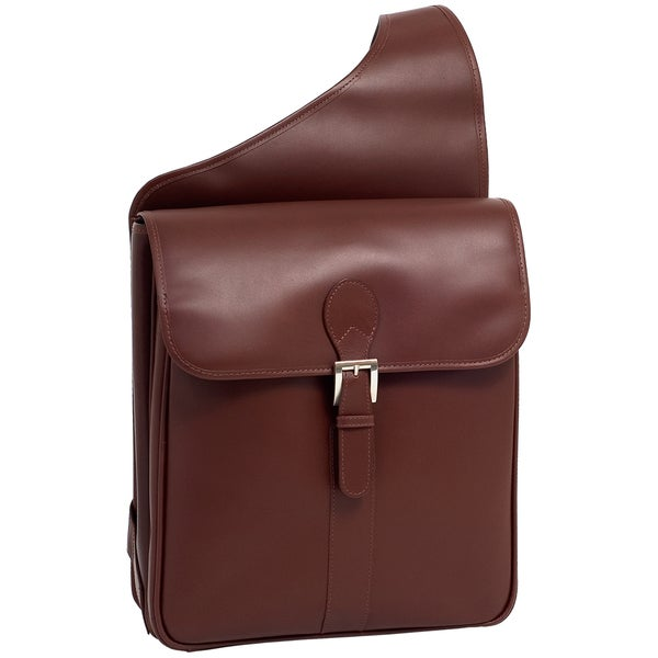Siamod 'Sabotino' Vertical Leather Messenger Bag