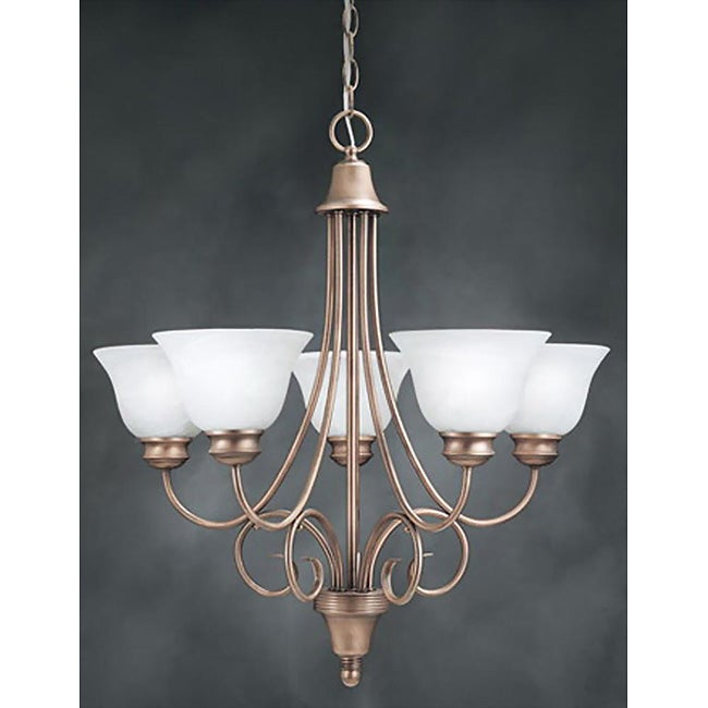 Syracuse 5-light Antique Copper Chandelier