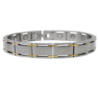 Magnetic Square Links Bracelet (Option: Gold)