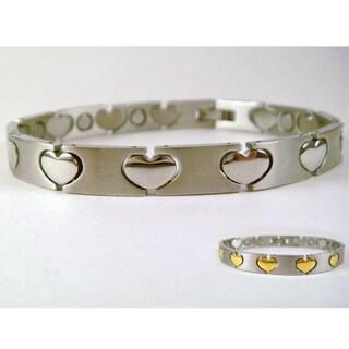 Magnetic Silver Hearts Bracelet
