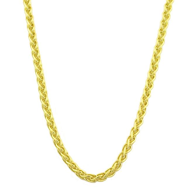 Fremada 18k Yellow Gold 18-inch Round Wheat Chain (0.8 mm)