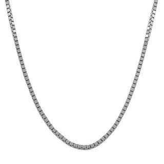 Fremada 18k White Gold Box Chain (16 inches to 20 inches)