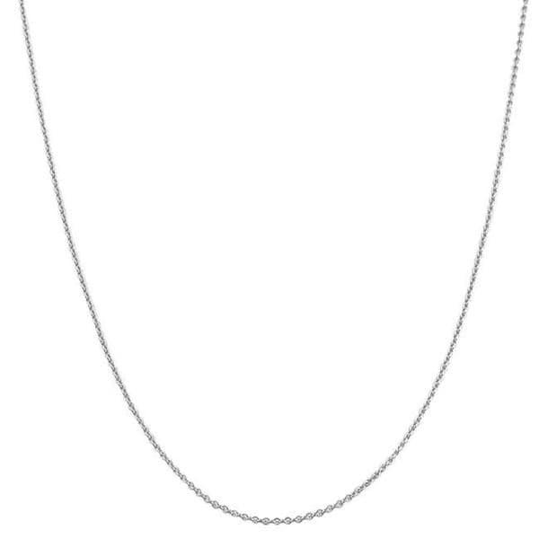 Fremada 18k White Gold 1mm Rolo Chain (16-18 inch)