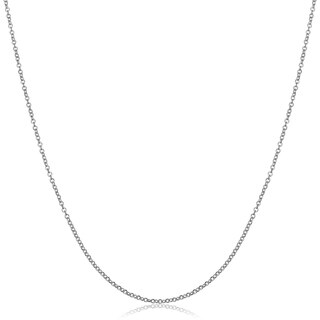 Fremada 18k White Gold 1 millimeter Rolo Chain Necklace (16 or 18 inches) (2 options available)