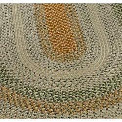 Safavieh Handwoven Contemporary Indoor/Outdoor Reversible Multicolor Braided Rug (3' x 5' Oval)