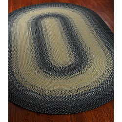 Safavieh Hand-woven Reversible Multicolor Braided Rug (3' x 5' Oval) - Thumbnail 1