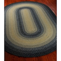 Safavieh Hand-woven Reversible Multicolor Braided Rug - 4' x 6' oval