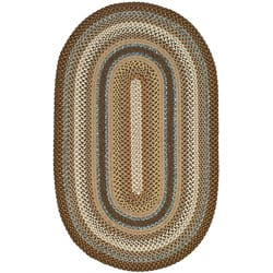 Safavieh Hand Woven Reversible Brown Braided Rug 5 X 8 Oval