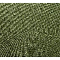 Safavieh Hand-woven Reversible Green Braided Rug (3' x 5' Oval)