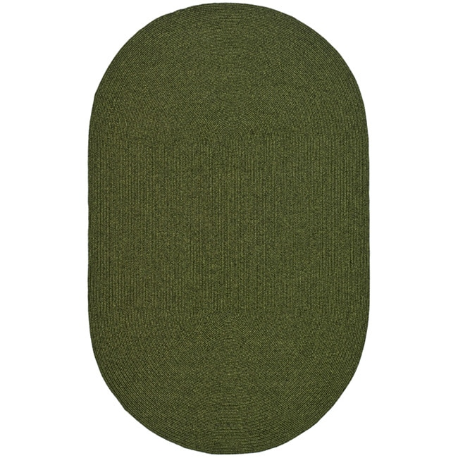 Used Oval Braided Rugs: Safavieh Hand-woven Reversible Green Braided Rug