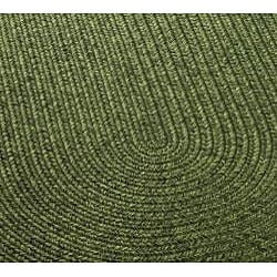 Safavieh Hand-woven Reversible Green Braided Rug (4' x 6' Oval)