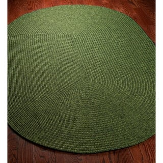 Shop Safavieh Hand Woven Reversible Green Braided Rug 4