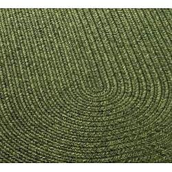 Safavieh Hand-woven Reversible Green Braided Rug (8' x 10' Oval) - Thumbnail 2