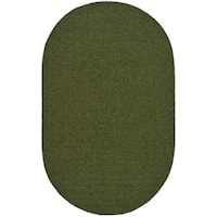 Safavieh Hand-woven Reversible Green Braided Rug - 8' x 10' Oval