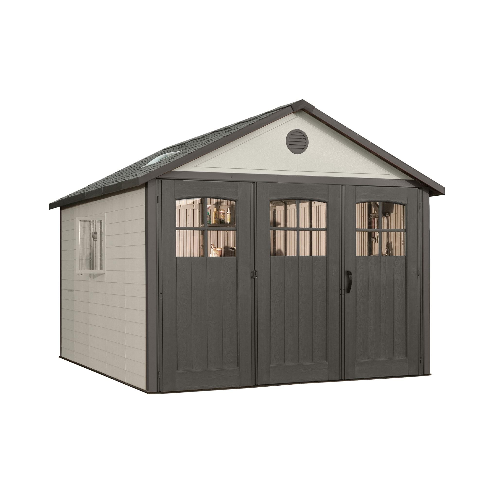 Lifetime Storage Building (11' x 11'), Grey metal #6417