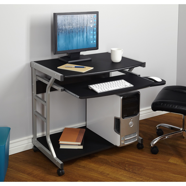 Porch & Den Third Ward Florica Computer Desk (Black), Siz...