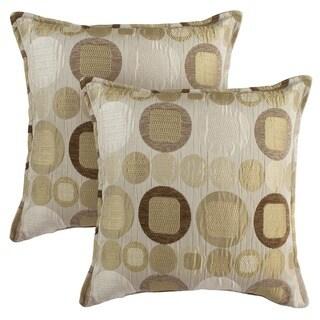 Sherry Kline 18-inch Metro Taupe Pillows (Set of 2)