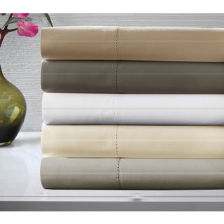 Luxury Cotton Dobby Stripe 600 Thread Count Sheet Set