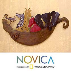 'Noah's Ark' Iron Wall Adornment (Mexico)