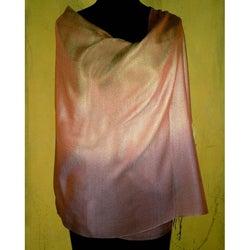 Handmade Silk and Wool 'Natural Radiance' Shawl (India)