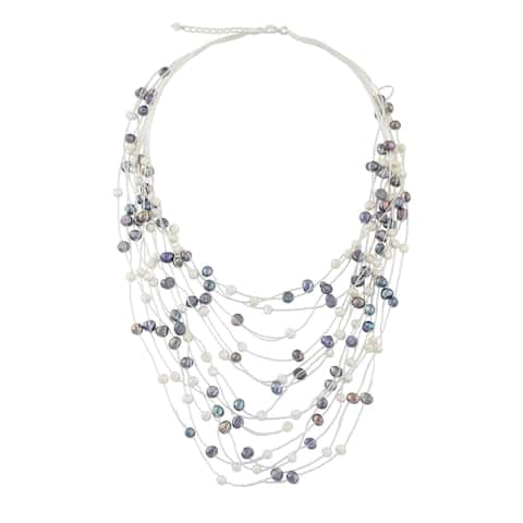 Handmade 'Peacock' Pearl Strand Necklace (Thailand) (4-6 mm)