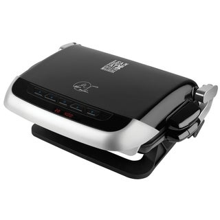 George Foreman GRP4EMB Black Evolve Grill with Muffin and Bake Plates
