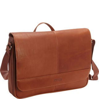Kenneth Cole Colombian Leather 15.4-inch Laptop Messenger Bag
