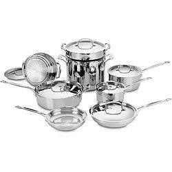 Cuisinart Chef's Classic Stainless Steel 14-piece Cookware Set - Thumbnail 0