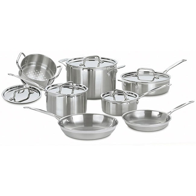 Cuisinart Multiclad Pro Stainless Steel 12-piece Cookware Set - Thumbnail 0