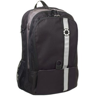 DadGear Backpack Diaper Bag, Black Retro Stripe