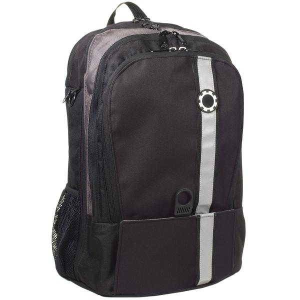 dadgear backpack diaper bag black retro stripe free. Black Bedroom Furniture Sets. Home Design Ideas