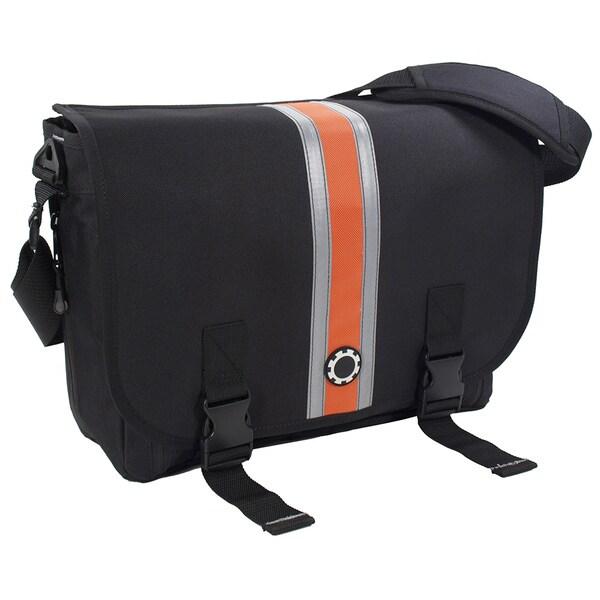 DadGear Messenger Orange Striped Diaper Bag