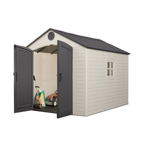 Lifetime Tan/Brown 8' x 10' Outdoor Storage Shed