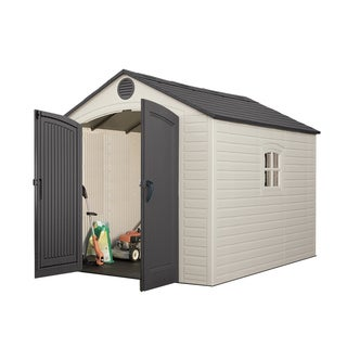 Lifetime Tan/Brown 8u0027 X 10u0027 Outdoor Storage Shed