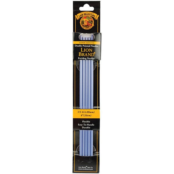 Double Point Size 6 Lavender 8-inch 4 mm Knitting Needles (Set of 5)