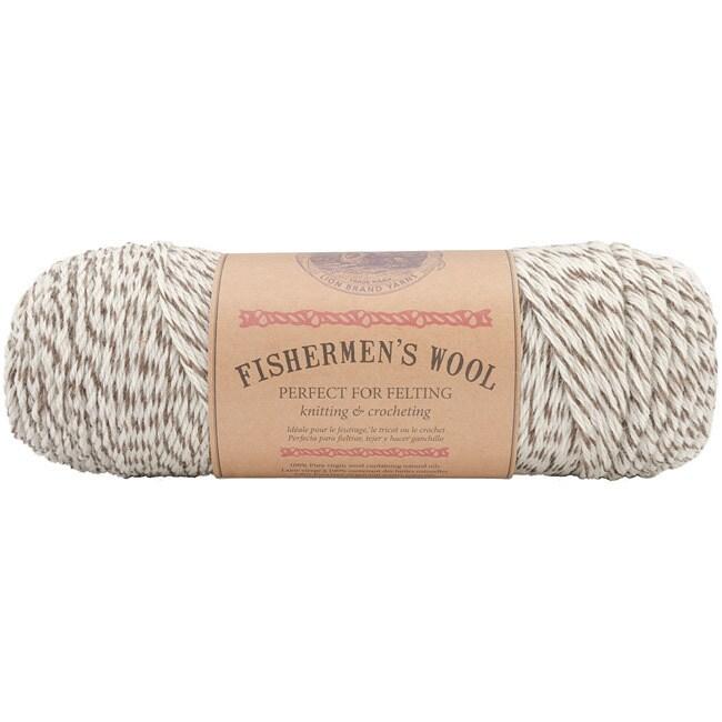 Lion Brand Fishermen's' 8-oz Oak Tweed Virgin Wool Yarn (...