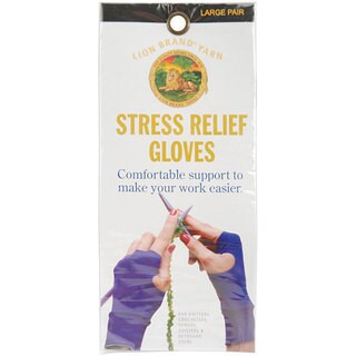 Lion Brand Large Stress Relief Knitting Gloves