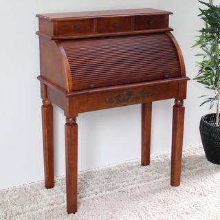 International Caravan Hardwood Roll Top Style Desk/ Vanity