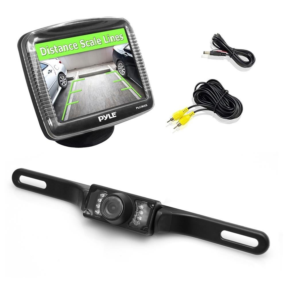 Pyle 3.5-inch LCD Rearview Night (Black) Vision Backup Ca...