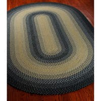 Safavieh Hand-woven Reversible Multicolor Braided Rug - 5' x 8' Oval