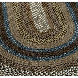 Safavieh Hand-woven Reversible Brown Braided Rug (5' x 8' Oval) - Thumbnail 2