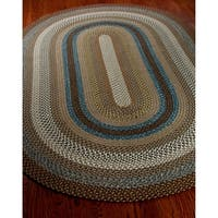 Safavieh Hand-woven Reversible Brown Braided Rug - 5' x 8' Oval