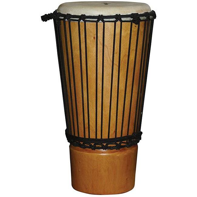 Natural Finish Mahogany 11-inch Ashiko Drum (Indonesia)