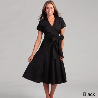 Sandro Women's Poplin Notch Collar Dress
