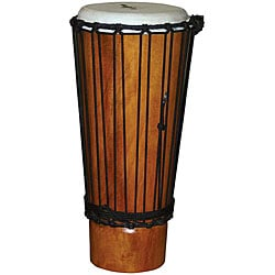 Natural Finish Mahogany 9-inch Ashiko Drum (Indonesia)