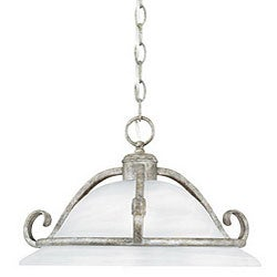 Dalton Silver Slate Finish Single-light Pendant