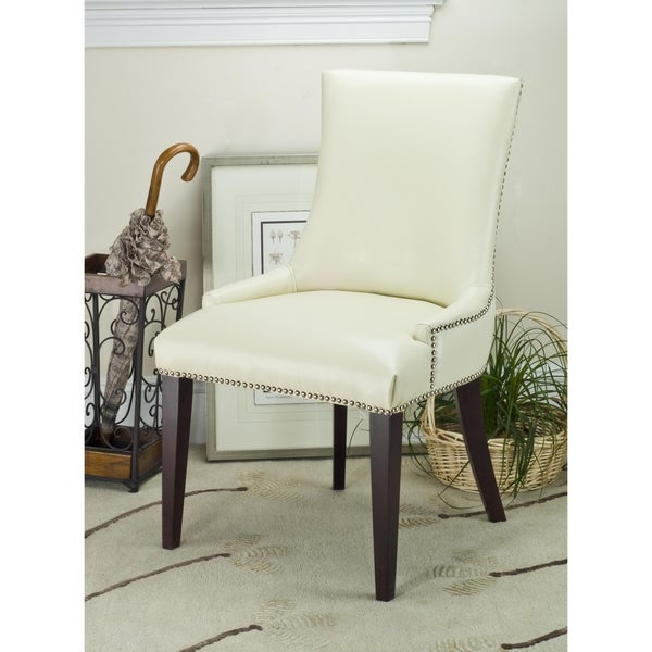 Safavieh En Vogue Dining Becca Cream Leather Dining Chair