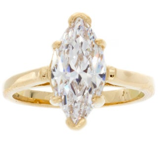 NEXTE Jewelry 14k Gold Overlay Marquise-cut Cubic Zirconia Bridal-inspired Solitaire Ring