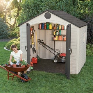 Lifetime Outdoor Storage Shed (8' x 7.5')|https://ak1.ostkcdn.com/images/products/4692541/P12609415.jpg?_ostk_perf_=percv&impolicy=medium